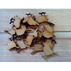 Laser cut Robins Pack of 15